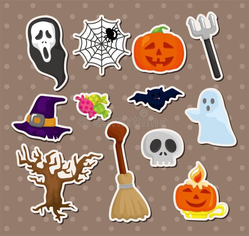 Etiquetas de Halloween ilustração do vetor