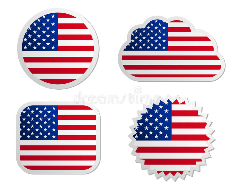 Etiquetas de la bandera de los E.E.U.U. libre illustration
