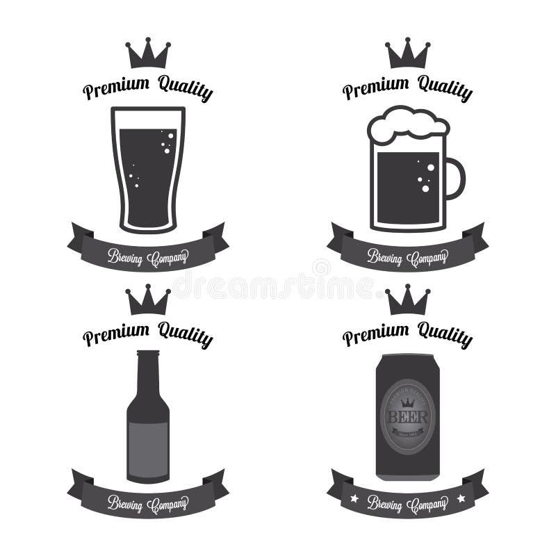 Etiquetas de la cerveza ilustración del vector