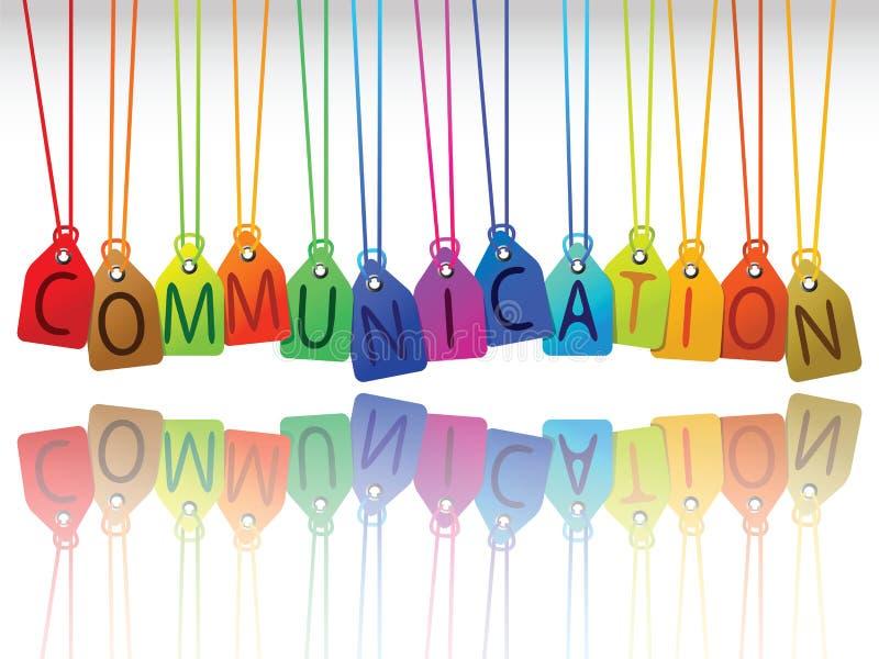 Etiquetas de la comunicación stock de ilustración