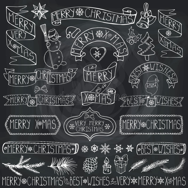 Etiquetas De La Decoración De La Navidad, Cintas, Poniendo Letras ...
