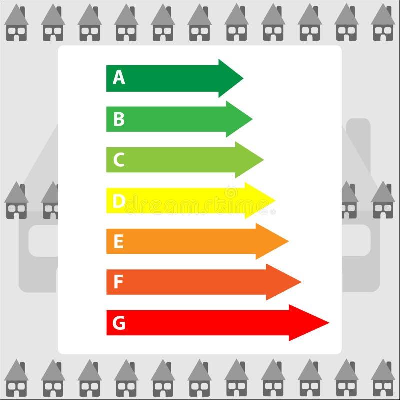 Etiquetas de la energía del color aisladas en fondo gris stock de ilustración
