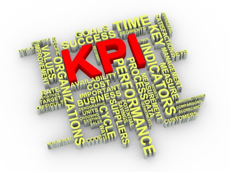 etiquetas de la palabra de 3d KPI libre illustration