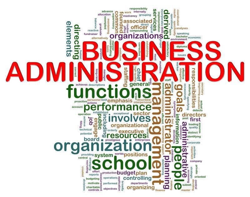 Etiquetas de la palabra de la administración de asunto stock de ilustración