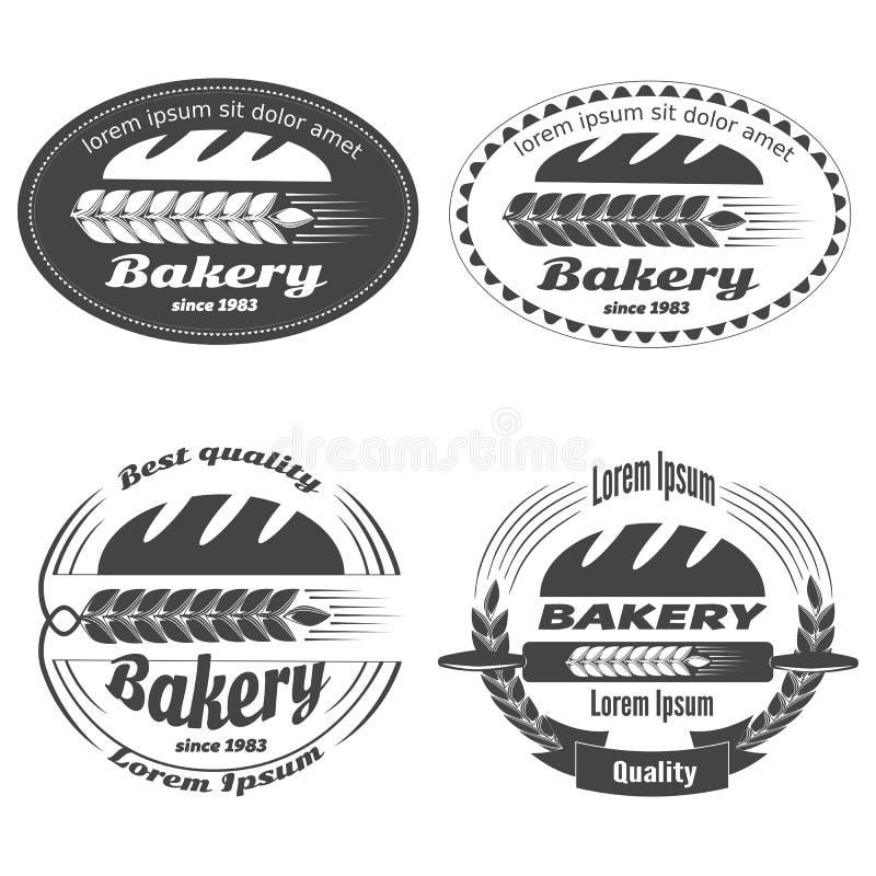 Etiquetas de la panadería imagenes de archivo
