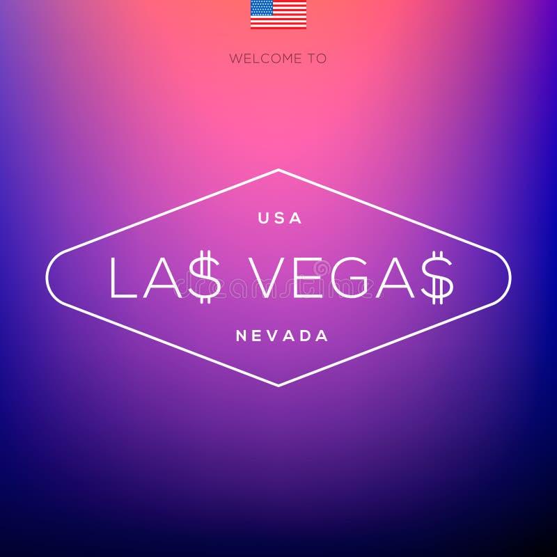 Etiquetas de las ciudades del mundo - Las Vegas. stock de ilustración