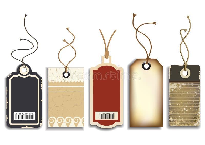Etiquetas de las ventas de la cartulina ilustración del vector