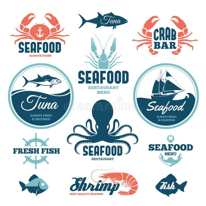 Etiquetas de los mariscos