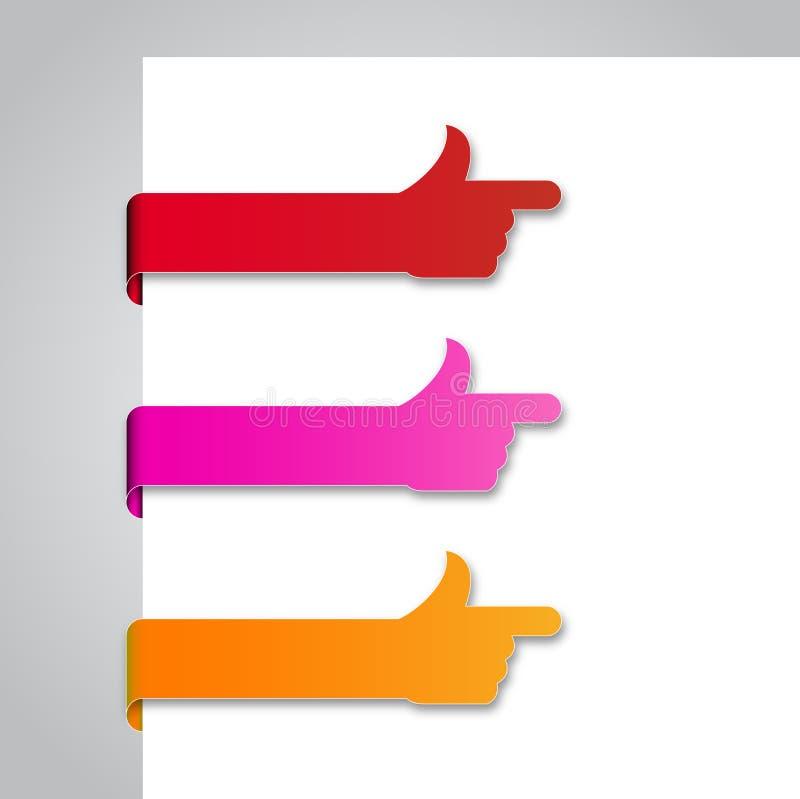 Etiquetas de papel - 2 foto de archivo libre de regalías