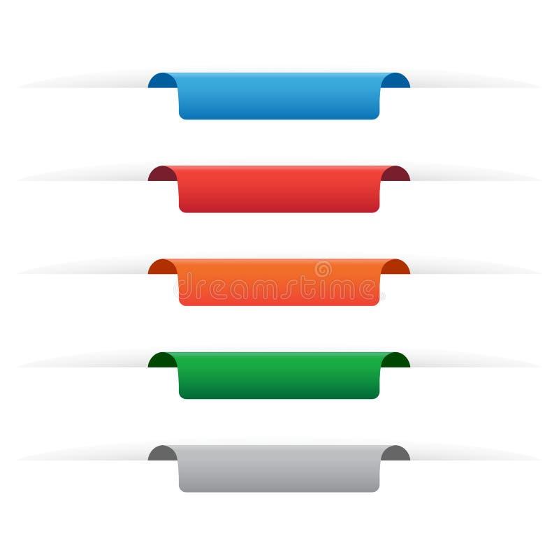 Etiquetas de papel da etiqueta ilustração do vetor