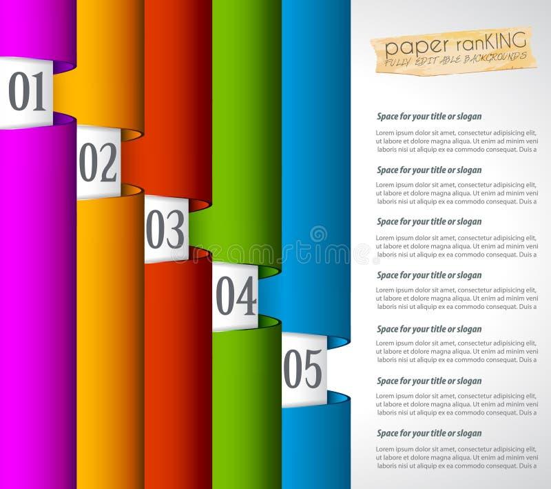 Etiquetas de papel realistas de Mordern para la clasificación de los productos libre illustration