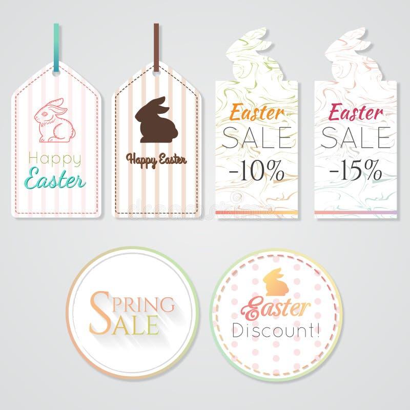 Etiquetas 1 de Pascua stock de ilustración