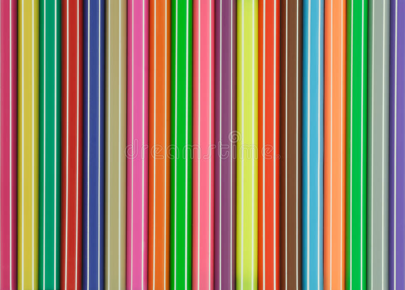 Etiquetas de plástico coloreadas fotografía de archivo libre de regalías
