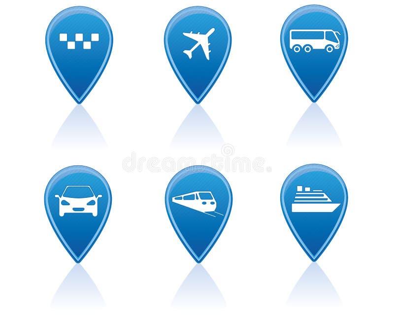 Etiquetas de plástico del transporte ilustración del vector