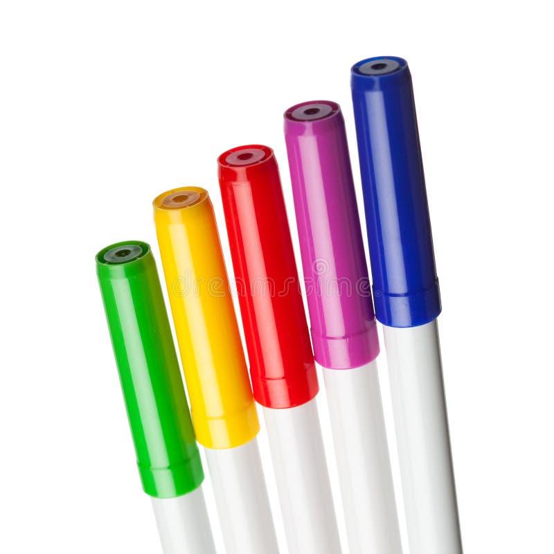 Etiquetas de plástico multicoloras fotos de archivo libres de regalías
