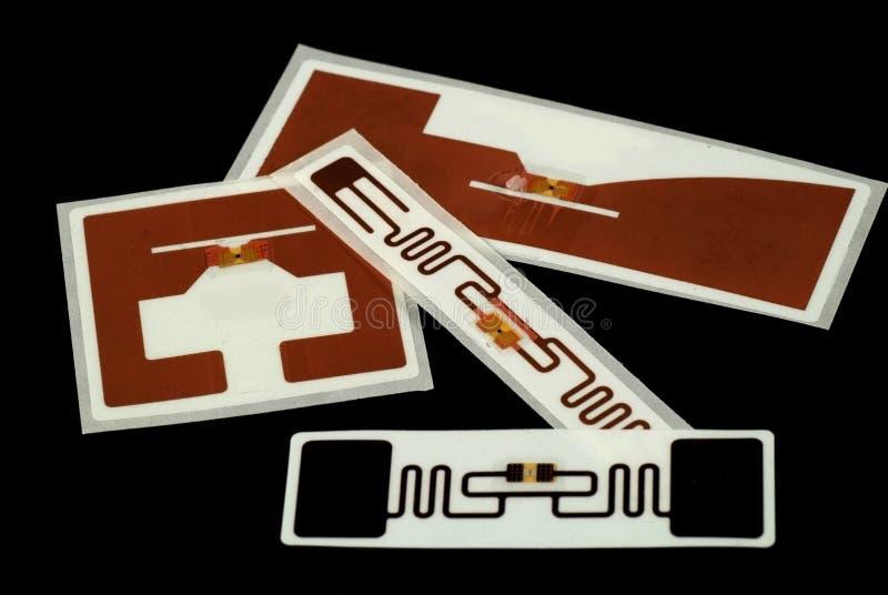 Etiquetas de RFID fotografía de archivo
