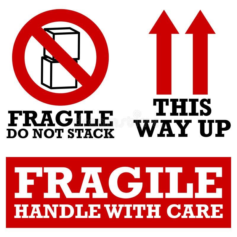 Etiquetas de transporte frágeis