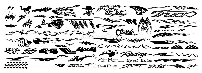 Etiquetas del coche libre illustration