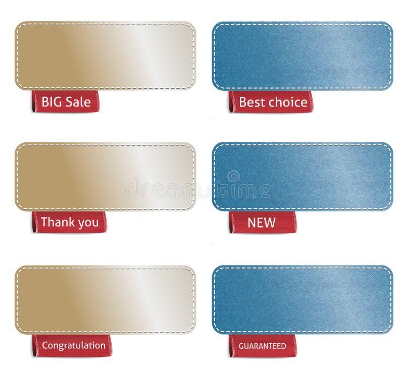 Etiquetas del color ilustración del vector
