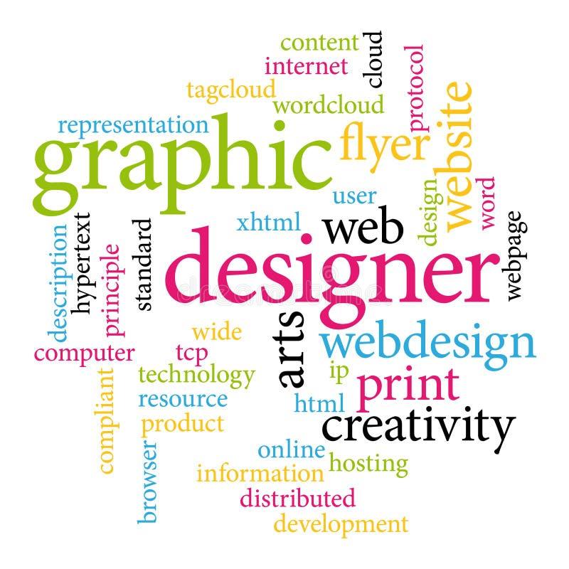 Etiquetas del diseñador gráfico libre illustration