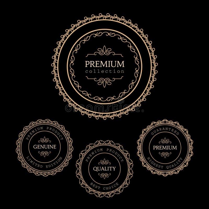 Etiquetas del oro stock de ilustración