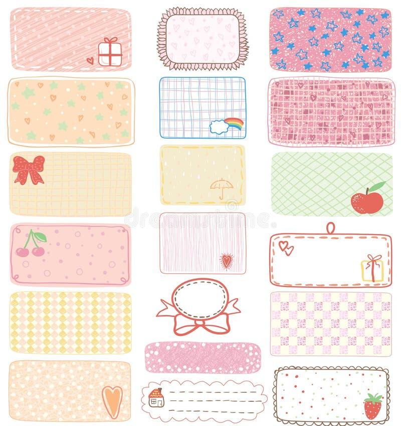 Etiquetas del regalo libre illustration