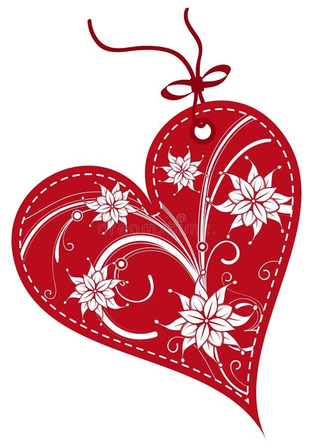 Etiquetas del regalo del día de tarjetas del día de San Valentín ilustración del vector