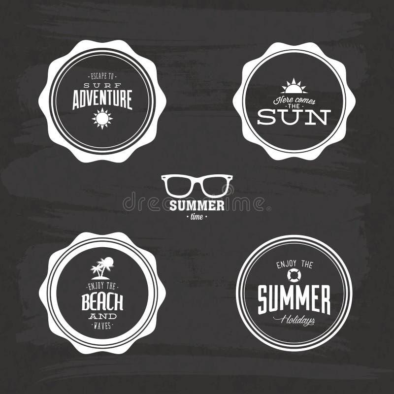 Download Etiquetas del verano ilustración del vector. Ilustración de playa - 41902834