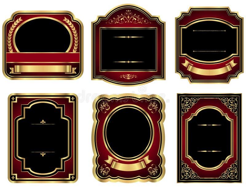 Etiquetas del vintage del oro libre illustration
