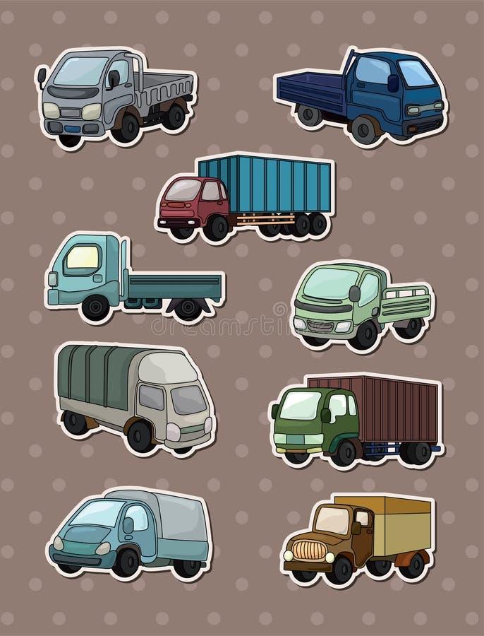 Etiquetas do caminhão ilustração royalty free