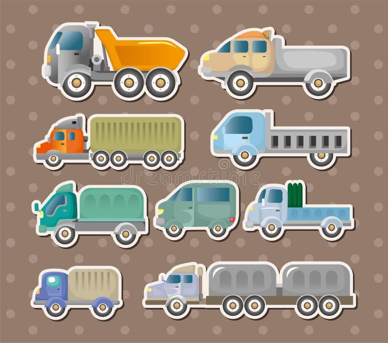 Etiquetas do caminhão ilustração do vetor