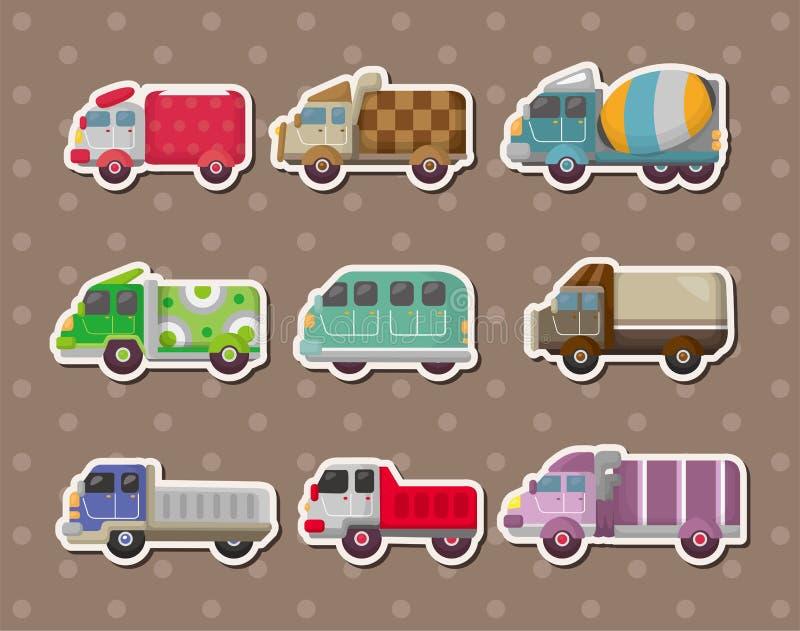 Etiquetas do caminhão ilustração stock
