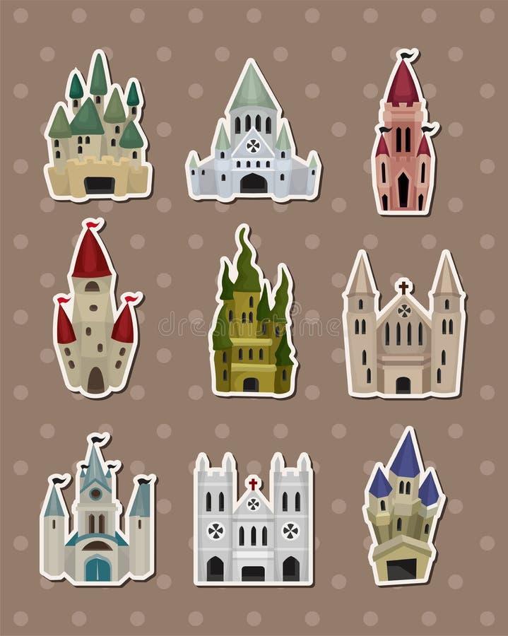 Download Etiquetas do castelo ilustração do vetor. Ilustração de sonho - 26517929