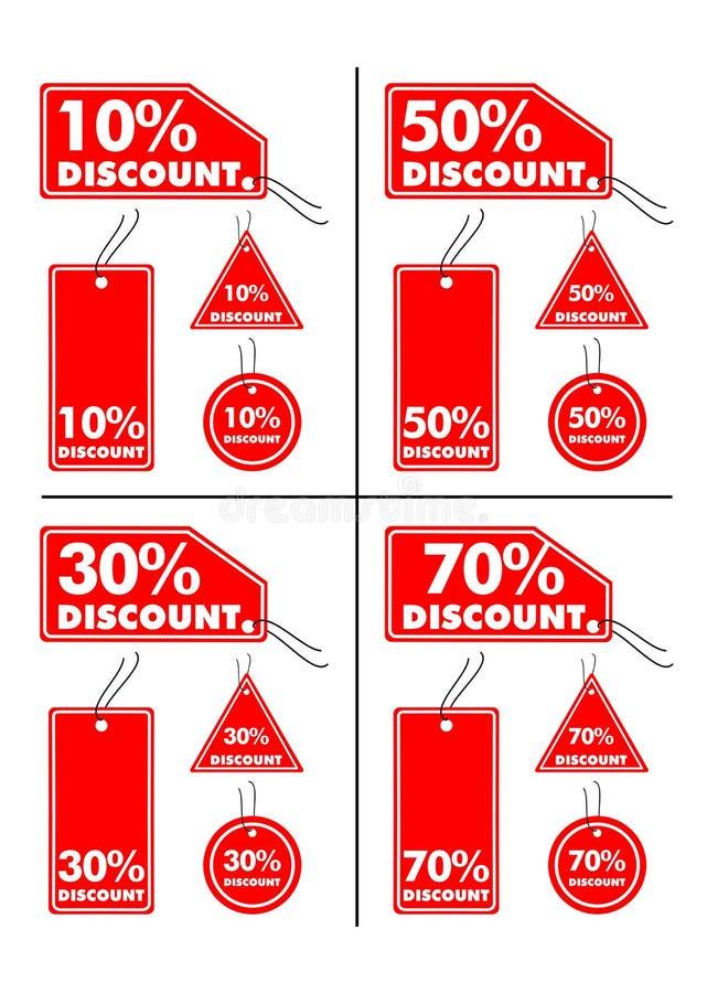 Etiquetas do disconto ilustração stock