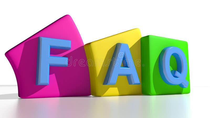 Etiquetas do FAQ ilustração stock