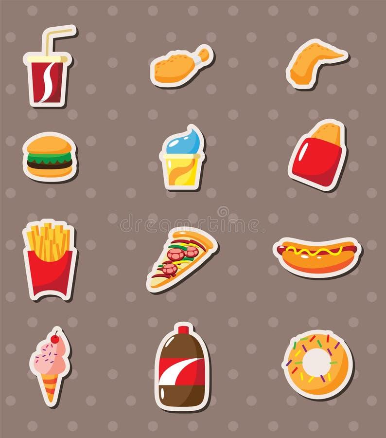 Etiquetas do fast food ilustração do vetor