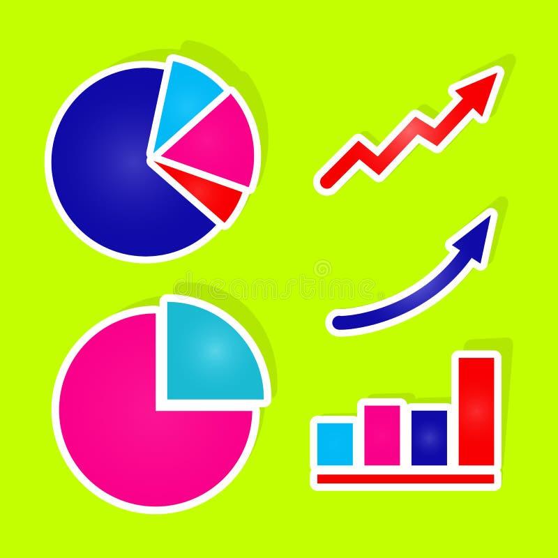 Etiquetas do gráfico do vetor ilustração do vetor