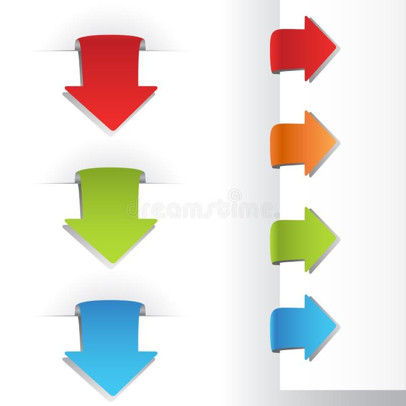 Etiquetas do marcador da seta ilustração royalty free