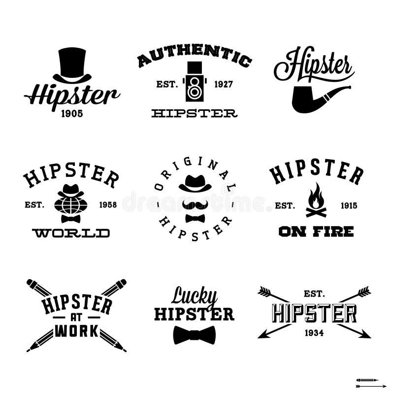 Etiquetas do moderno ilustração stock