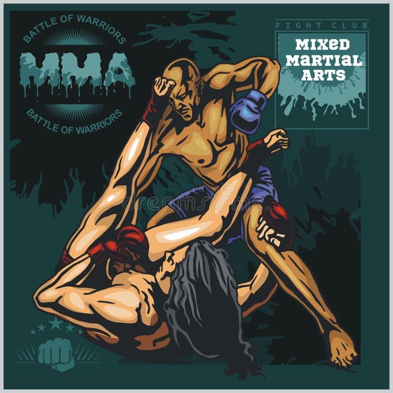 Etiquetas do Muttahida Majlis-E-Amal - projeto misturado vetor das artes marciais ilustração do vetor