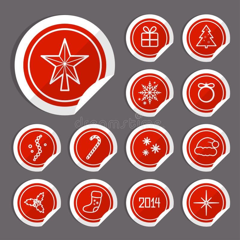 Etiquetas Do Natal Fotos de Stock Royalty Free