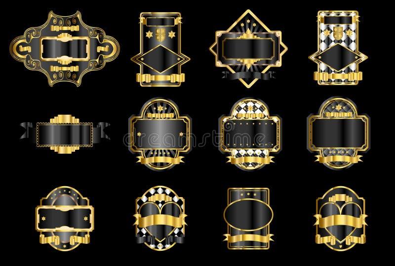 Etiquetas do ouro ilustração do vetor