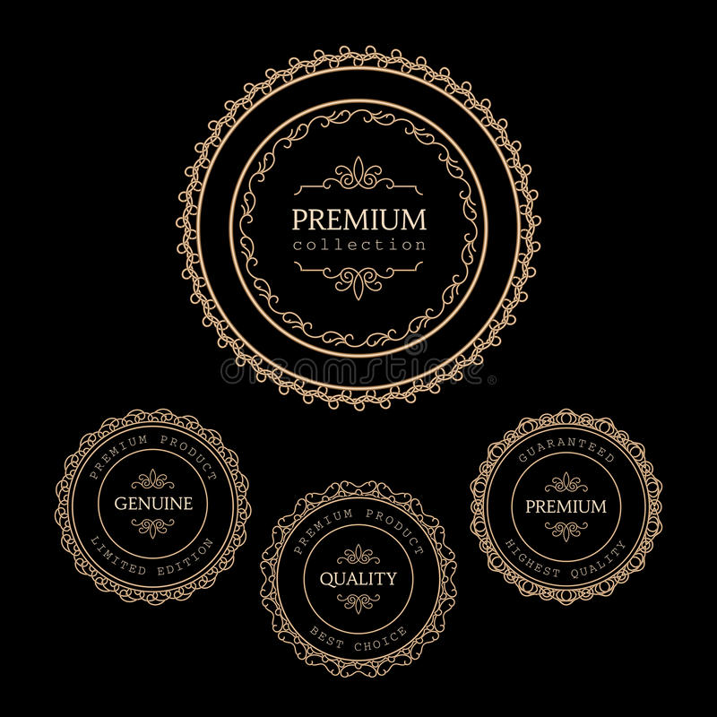 Etiquetas do ouro ilustração stock