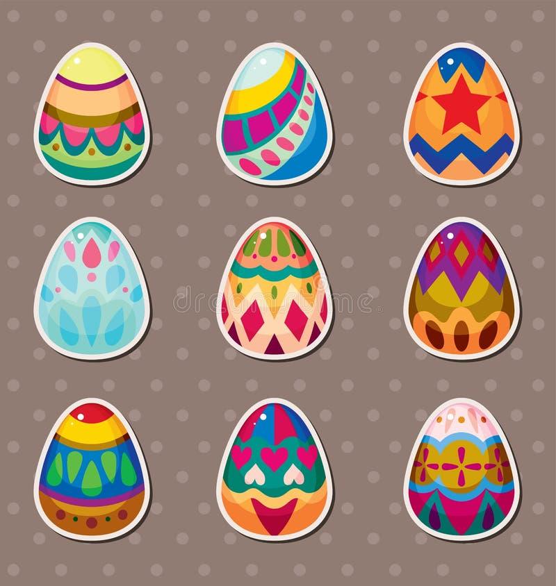 Etiquetas do ovo de Easter dos desenhos animados ilustração do vetor