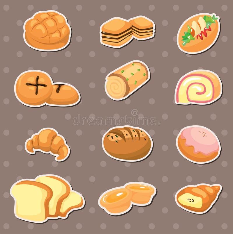 Etiquetas do pão ilustração royalty free