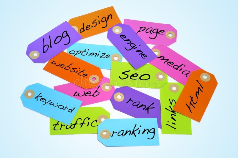 Conceitos da optimização e do Internet do Search Engine imagem de stock