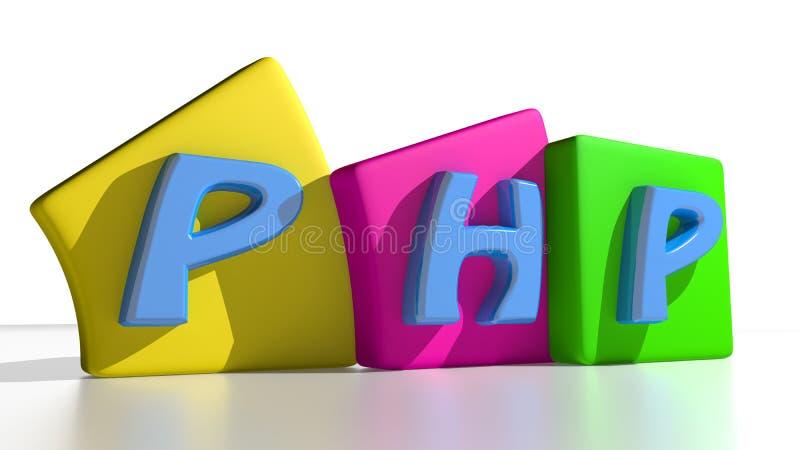 Etiquetas do PHP ilustração stock