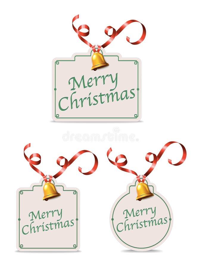 Etiquetas do presente do Natal ilustração royalty free
