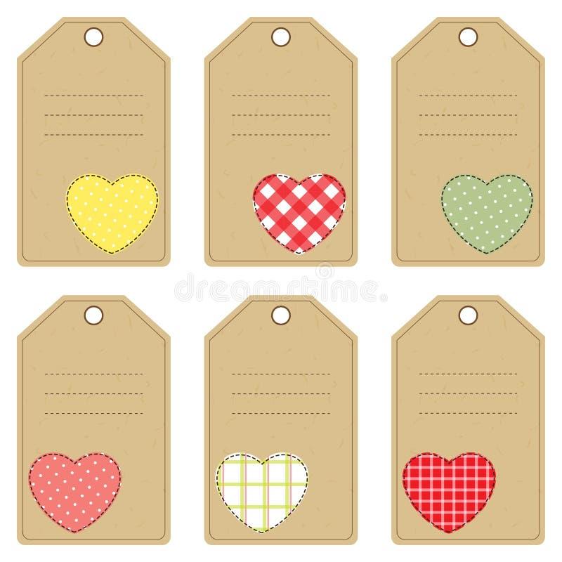 Etiquetas do presente para o dia de Valentim ilustração stock