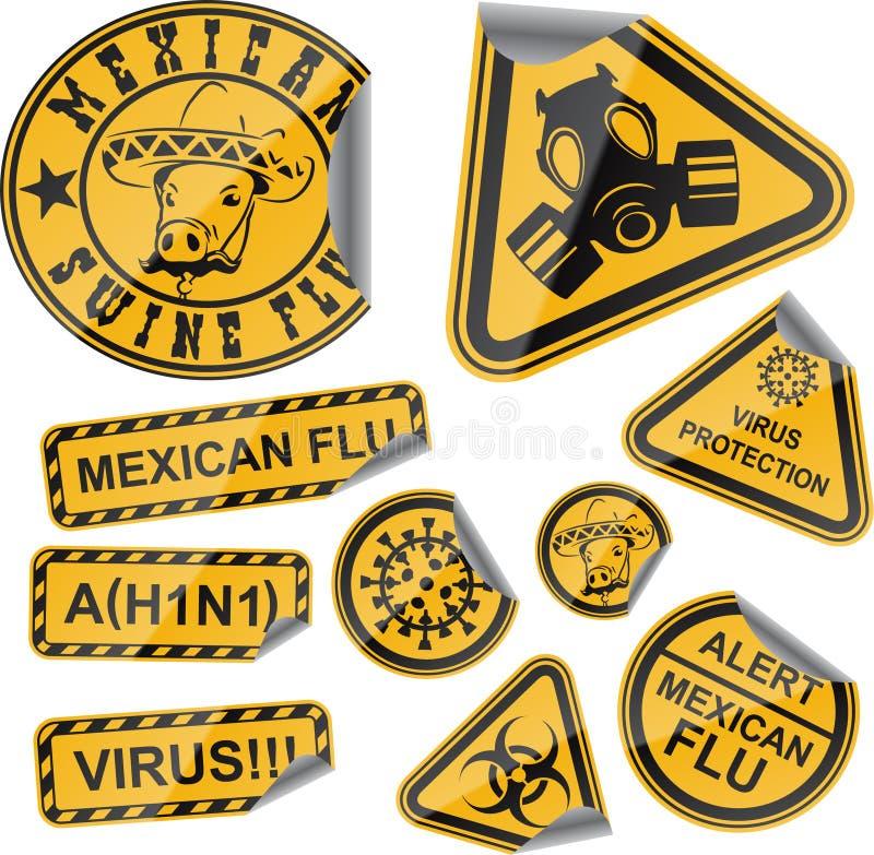 Etiquetas do vírus ilustração do vetor
